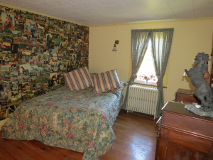 full sized bed in equestrian room